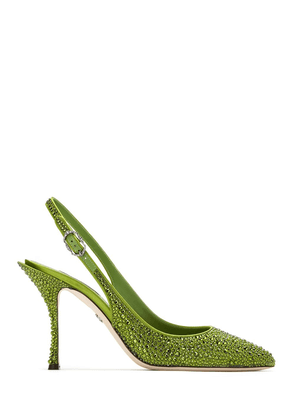 Dolce & Gabbana crystal embellished slingback pumps - Green