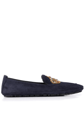 Dolce & Gabbana crown patch loafers - Blue