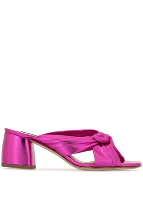 Fabio Rusconi cross front mules - PURPLE