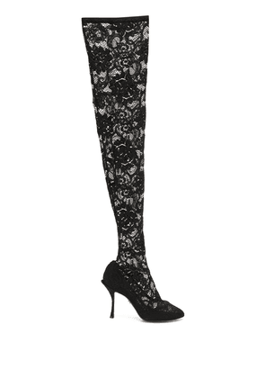 Dolce & Gabbana lace overlay pumps - Black