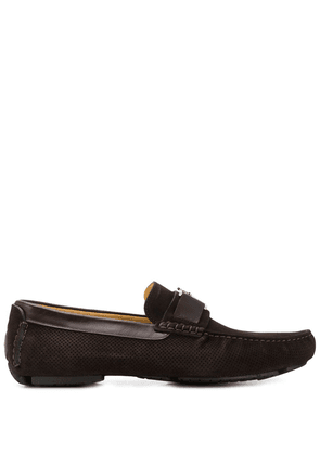 Cesare Paciotti logo plaque loafers - Brown