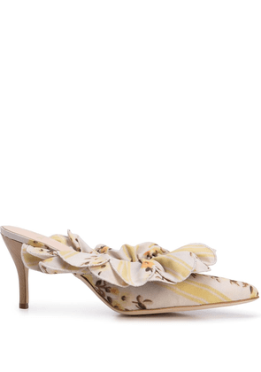 Brother Vellies frilled mules - Yellow
