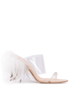 Brother Vellies see-through strappy mule - White
