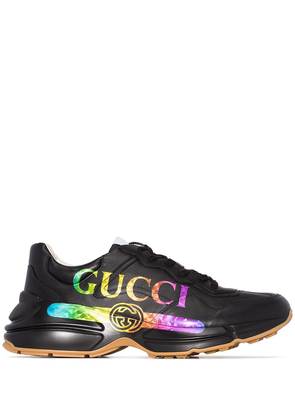 Gucci Rhyton logo-printed sneakers - Black