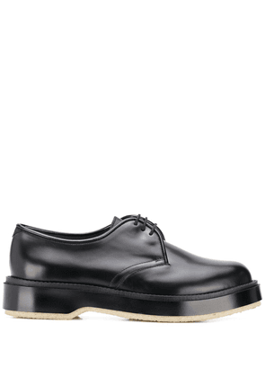 Adieu Paris x Undercover polished derby shoes - Black