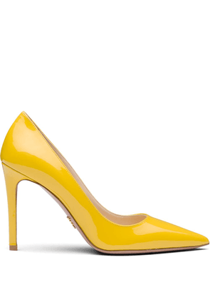 Prada pointed 100 pumps - Yellow