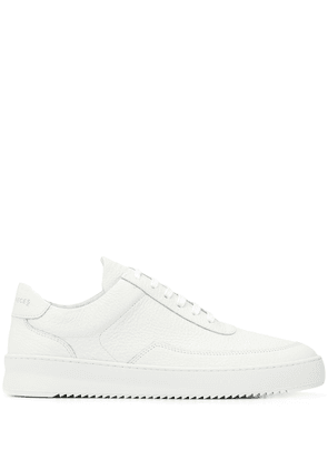 Filling Pieces low-top leather sneakers - White