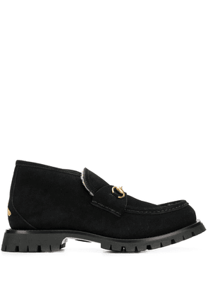 Gucci shearling lined boots - Black