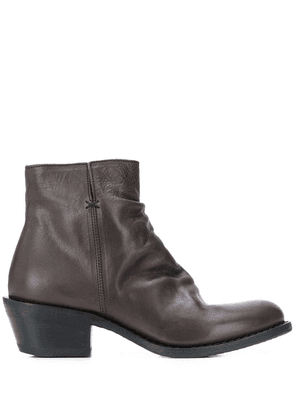 Fiorentini + Baker leather ankle boots - Brown