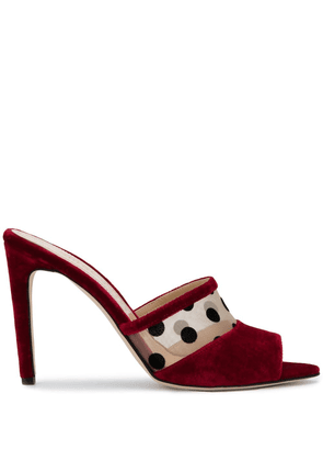 Chloe Gosselin Liz open toe mules - Red
