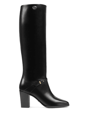Gucci chunky heel 75mm boots - Black