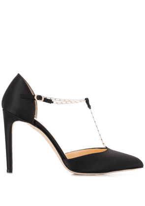 Chloe Gosselin Nicole suede T-bar pumps - Black