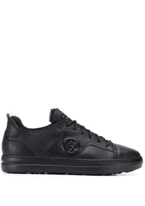 Baldinini lined side logo sneakers - Black