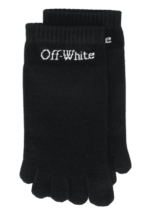Off-White logo-detail toe socks - Black