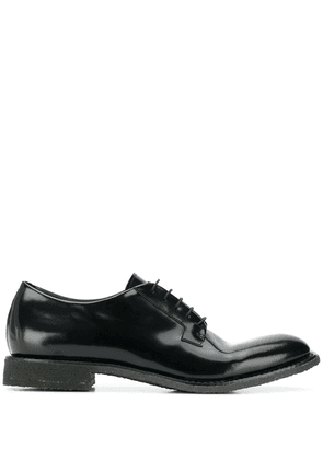 Del Carlo patent lace-up shoes - Black