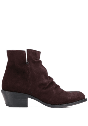 Fiorentini + Baker crinkled ankle boots - Brown