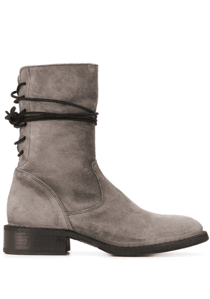 Fiorentini + Baker rear-lace ankle boots - Grey