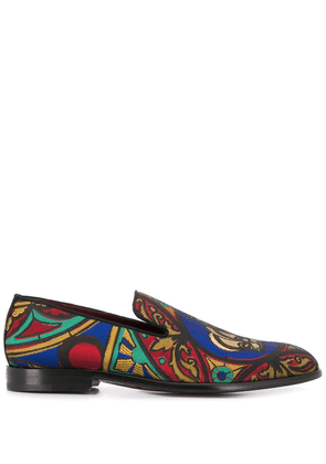 Dolce & Gabbana embroidered loafers - Brown