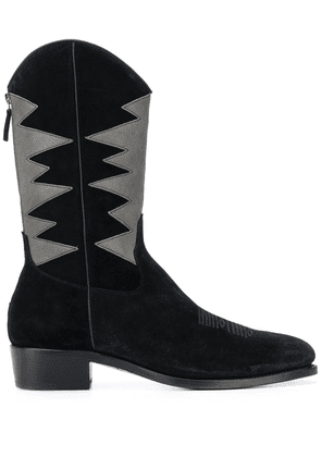 Barbanera contrast zipped boots - Black