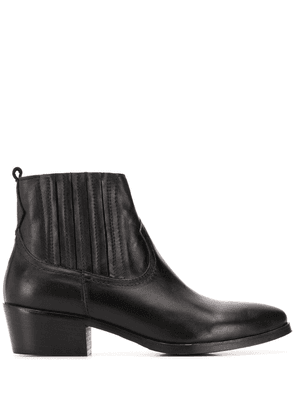 Albano pointed elasticated boots - Black