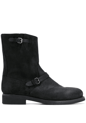 Buttero buckle-detail ankle boots - Black