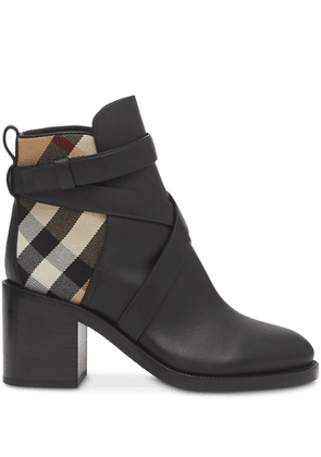 Burberry Vintage Check panel ankle boots - Black