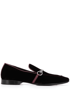 Cesare Paciotti velvet loafers - Red