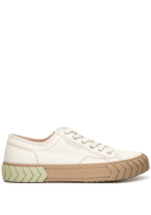 Both Pop Tyres low-top trainers - White