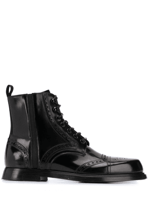 Dolce & Gabbana brogue lace-up boots - Black
