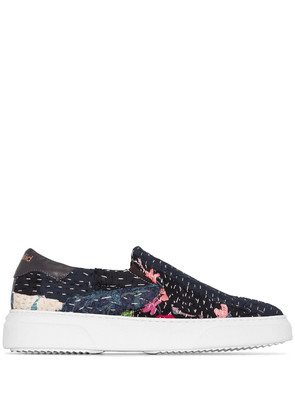 By Walid repatch slip-on sneakers - Blue