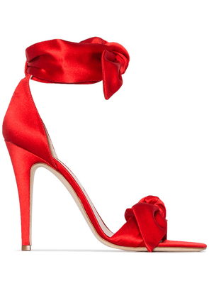 Gia Couture 120mm two bow strap sandals - Red