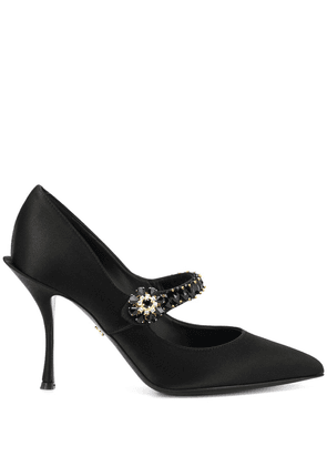 Dolce & Gabbana Mary Janes with emblished strap - Black