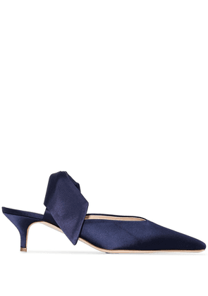 Gia Couture Lizzo bow detail mules - Blue