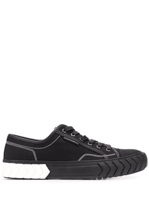 Both two-tone low-top sneakers - Black
