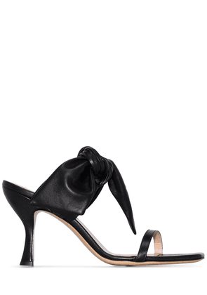 Gia Couture Brigitte bow detail mules - Black