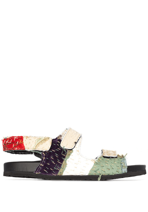 By Walid 19th Century Chinese sandals - NEUTRALS