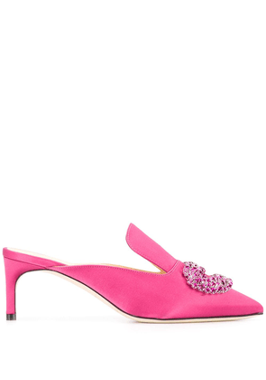 Giannico embellished pointed toe pumps - PINK