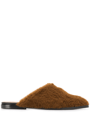 ATP Atelier shearling slippers - Brown