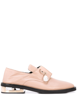 Coliac pearl-embellished Nathan loafers - NEUTRALS