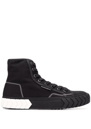 Both high top lace-up plimsolls - Black