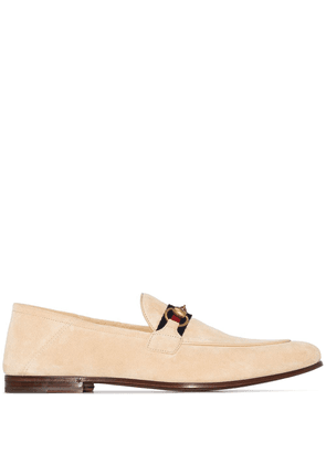 Gucci Brixton Horsebit motif loafers - NEUTRALS