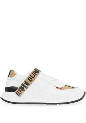 Burberry Vintage Check touch strap sneakers - White