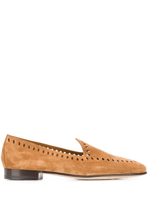 Edhen Milano cut out detail loafers - Brown