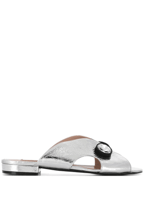 Coliac laminated crystal sandals - SILVER