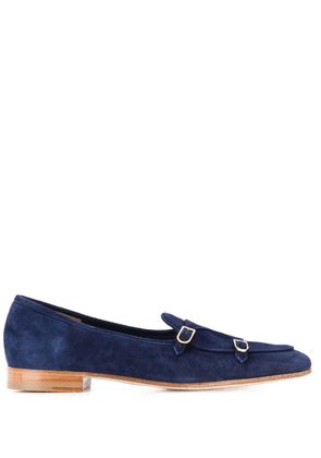 Edhen Milano stitched suede loafers - Blue
