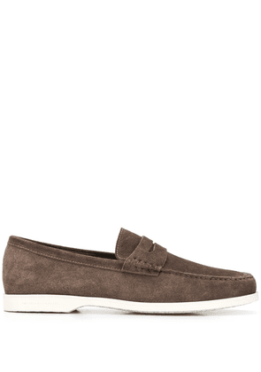 Fratelli Rossetti stitched detail loafers - NEUTRALS