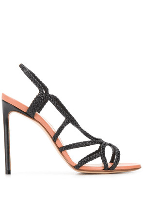 Francesco Russo braided 115mm sandals - Black