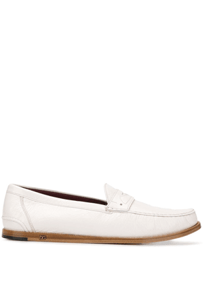 Dolce & Gabbana mocassin leather loafers - White