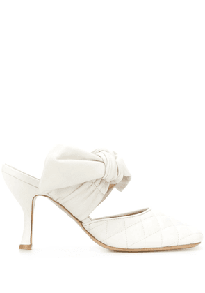 Gia Couture Kendalla 85mm mules - White