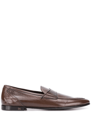 Dolce & Gabbana leather slip-on loafers - Brown